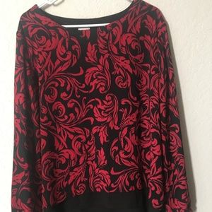 Chico's Size 3 Red and Black Blouse